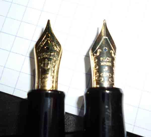 プロフィットスタンダート21ペン先比較
